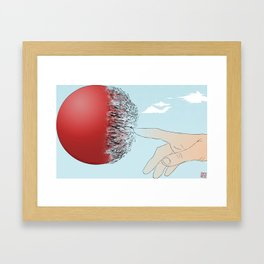 Burst Your Bubble Framed Art Print