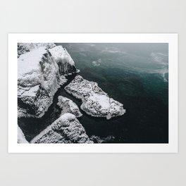 Frozen on the Lake Art Print