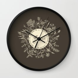 Dear Sassenach in Sepia Wall Clock