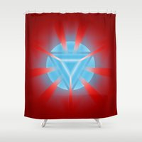 ironman Shower Curtains featuring Ironman by Some_Designs