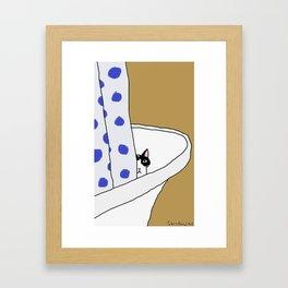 yoda the cat Framed Art Print
