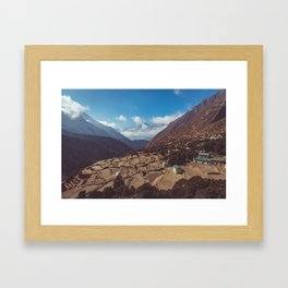 Mountain Village in Nepal Framed Art Print