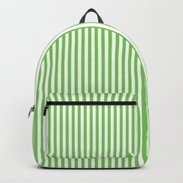 Green Flash Stripes Backpack