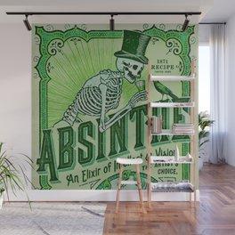 Vintage 1871 Absinthe Liquor Skeleton Elixir Aperitif Cocktail Alcohol Advertisement Poster Wall Mural