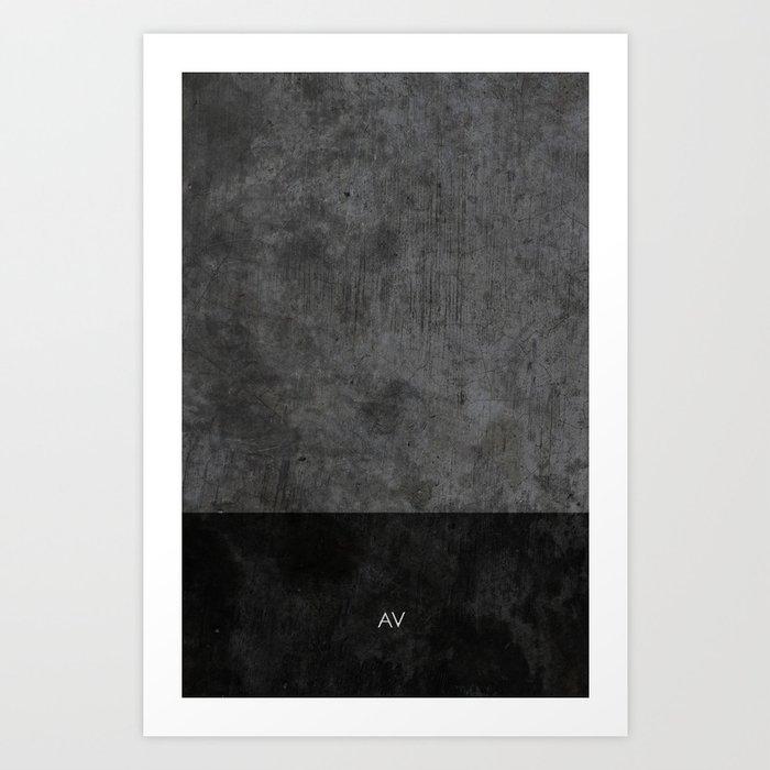 Dark luxury concrete  Kunstdrucke