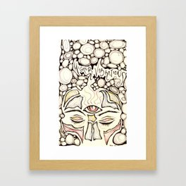 Higher Vibrations Framed Art Print