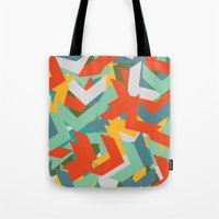 chevron Tote Bags featuring Chevron by INDUR
