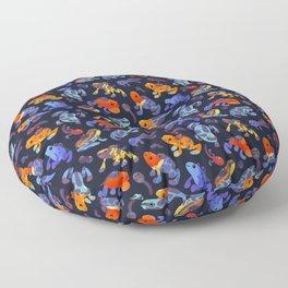 Poison dart frogs - dark Floor Pillow