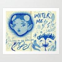 fka twigs Art Prints featuring fka twigs by Ines J.