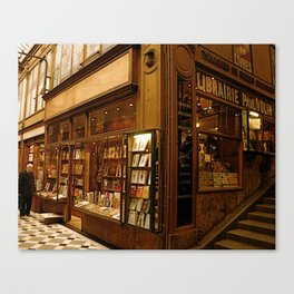 Paris Bookstore Canvas Print