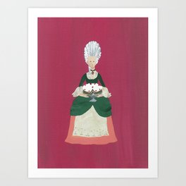 The Lady Who Had Her Cake - Original Marie Antoinette Inspired Artwork Art Print