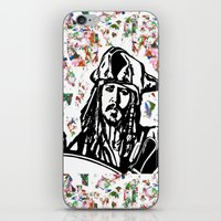 jack sparrow iPhone & iPod Skins featuring Jack Sparrow....Captain Jack Sparrow.. by Kramcox