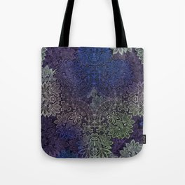 lace weave in deep blues Tote Bag