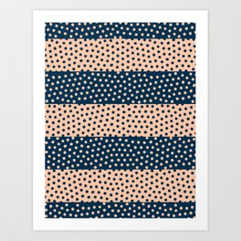 Dots and Stripes 5 Art Print