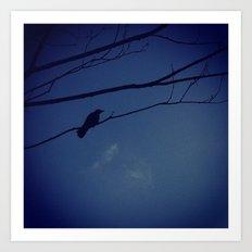 Bird on tree Art Print