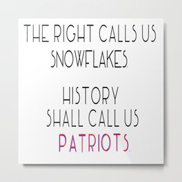 Today's Snowflakes are Tomorrow's Patriots Metal Print