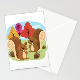Let The Acorns Fall Stationery Cards