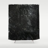 gray Shower Curtains featuring Gray by Justin Similey