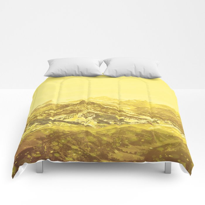 Mountains Yellow Comforters