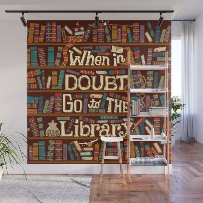 Go to the library Wall Mural