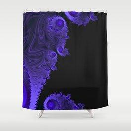 Black Light Fractal Art Shower Curtain