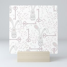 Bunny and Keys Mini Art Print