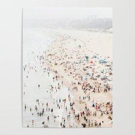 Santa Monica Beach Art Print. Los Angeles California Beach Art Poster