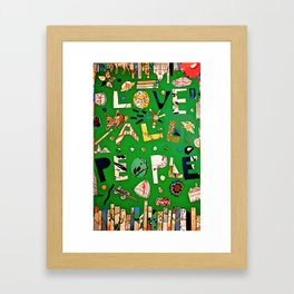 Love All People Framed Art Print