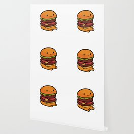 Burger Cute Burger Lover and Foodie Gift Wallpaper