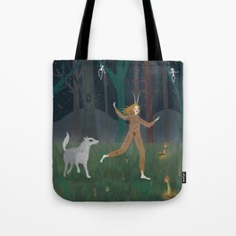 Wild Woman in the Forest Tote Bag