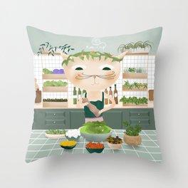 Kitten Sally Throw Pillow