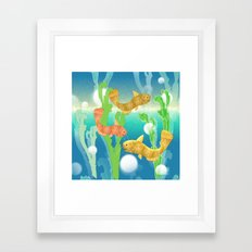 Toy Catfish Under the Sea Framed Art Print