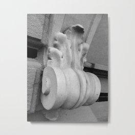 Vibrant city . Art object coupon , interiordecor . antique Metal Print