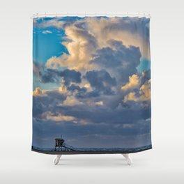 Big Sky Over Huntington Beach Shower Curtain