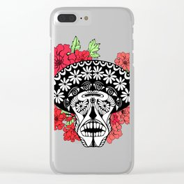 Flower skull. Clear iPhone Case