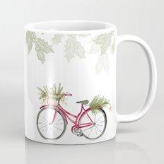 Red Christmas bicycle Mug