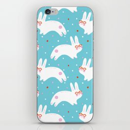Happy Bunnies with Glasses iPhone Skin