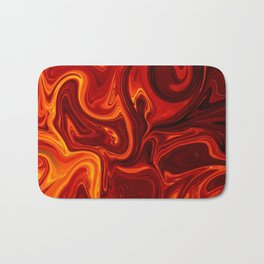 Abstract Lava Bath Mat