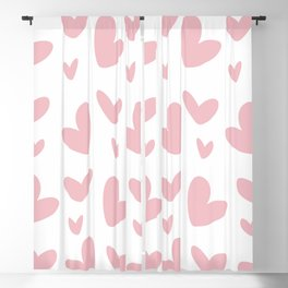 Pink HeartS Blackout Curtain
