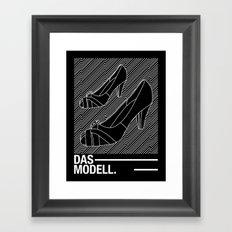 Das modell Framed Art Print