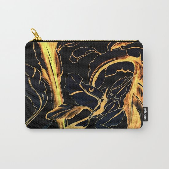 Plant in Blue Marker - Leaf of Life Miracle Leaf - Black and Gold Carry-All Pouch