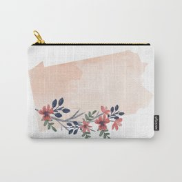 Pennsylvania Watercolor Floral State Carry-All Pouch