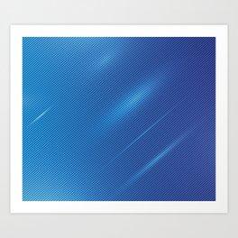 BLUE3 Abstract Art Art Print