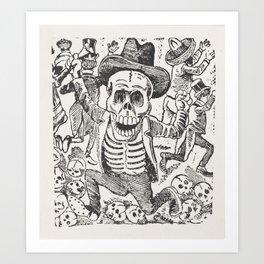 Skeleton and Bones Mexican Art,  Jose Guadalupe Posada Art Print