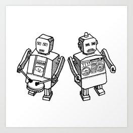 Beat Bots Art Print