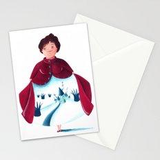 winter lady Stationery Cards