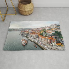 Beautiful Porto. Ribeira area and the Douro River. Rug
