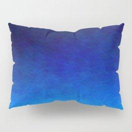 Cyan Circular Pillow Sham