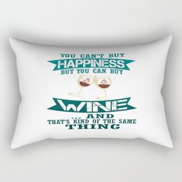 Wine is Happiness Rectangular Pillow