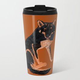 Black dingo (c) 2017 Metal Travel Mug